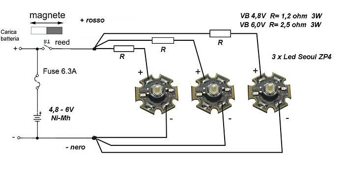 Schema Elettrico Per Tubi A Led : Schema elettrico lampada led v circuito illuminazione