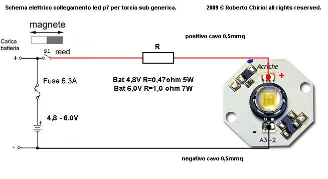 Subwoofer Xline Schema Elettrico : Potente torcia sub da lumen con led seoul p star