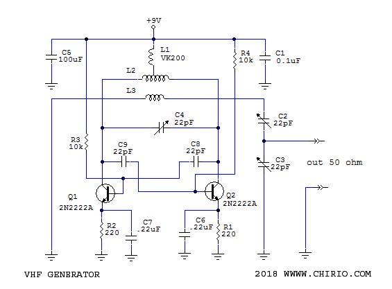 Schema Elettrico Generatore Di Corrente : Generatore vhf mhz by roberto chirio
